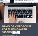 Online session on Demo of videoscribe for making subject videos