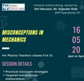 Online training session on Misconception in Mechanics