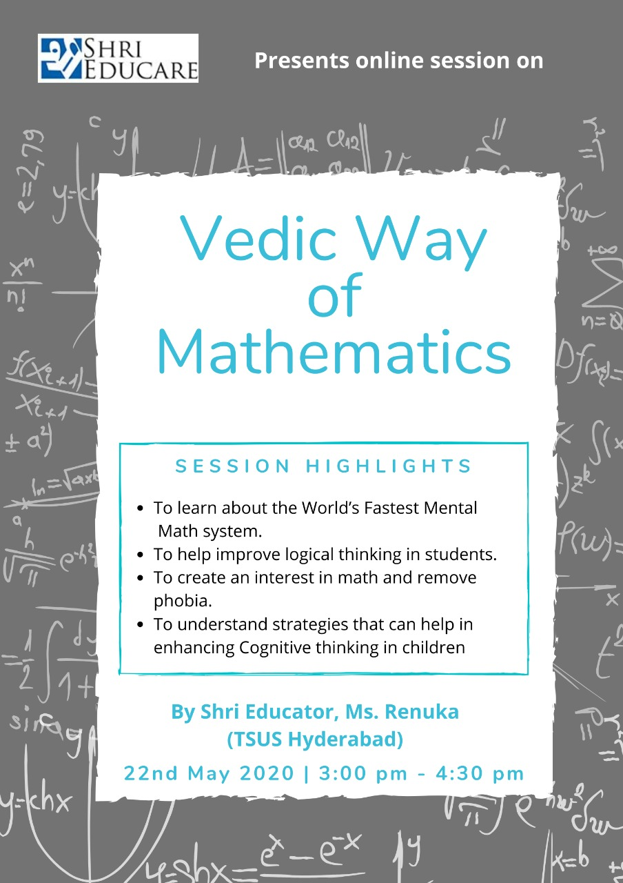 Online session on Vedic Way of Mathematics