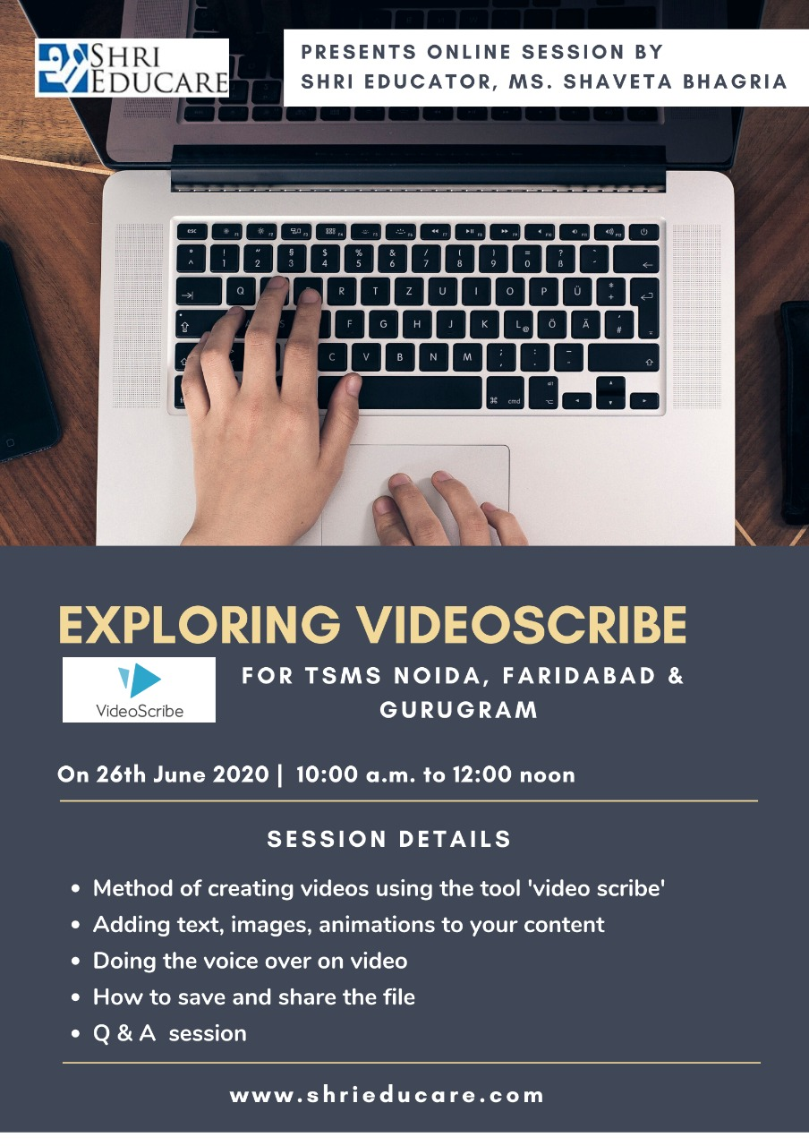 Online session on Exploring Videoscribe