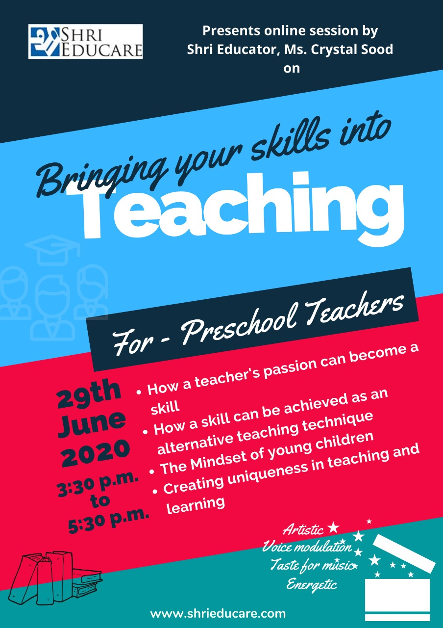 Online session on bringing your skills into teaching