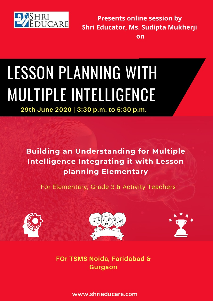 Online session on lesson planning with multiple intelligence
