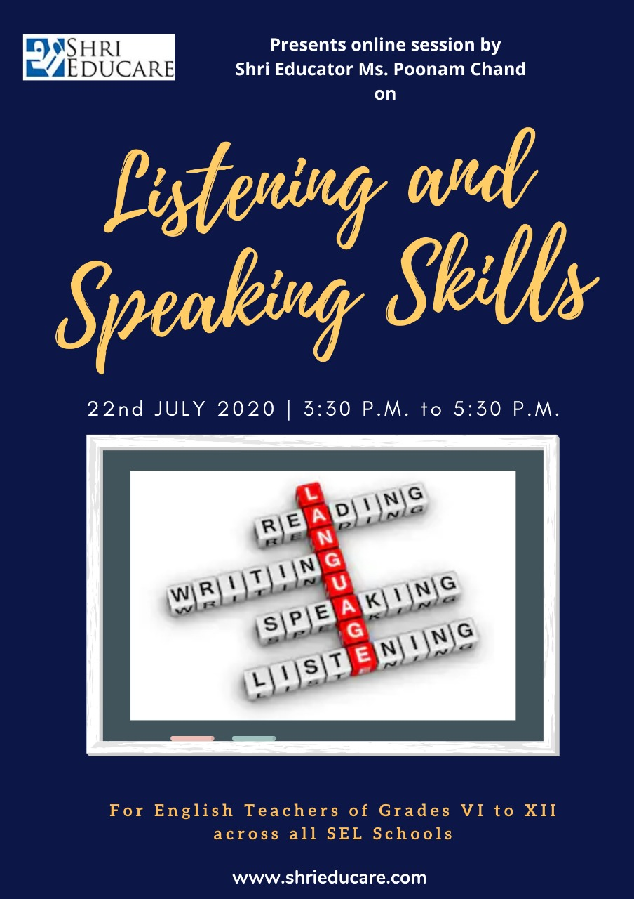 Online session on listening and speaking skills