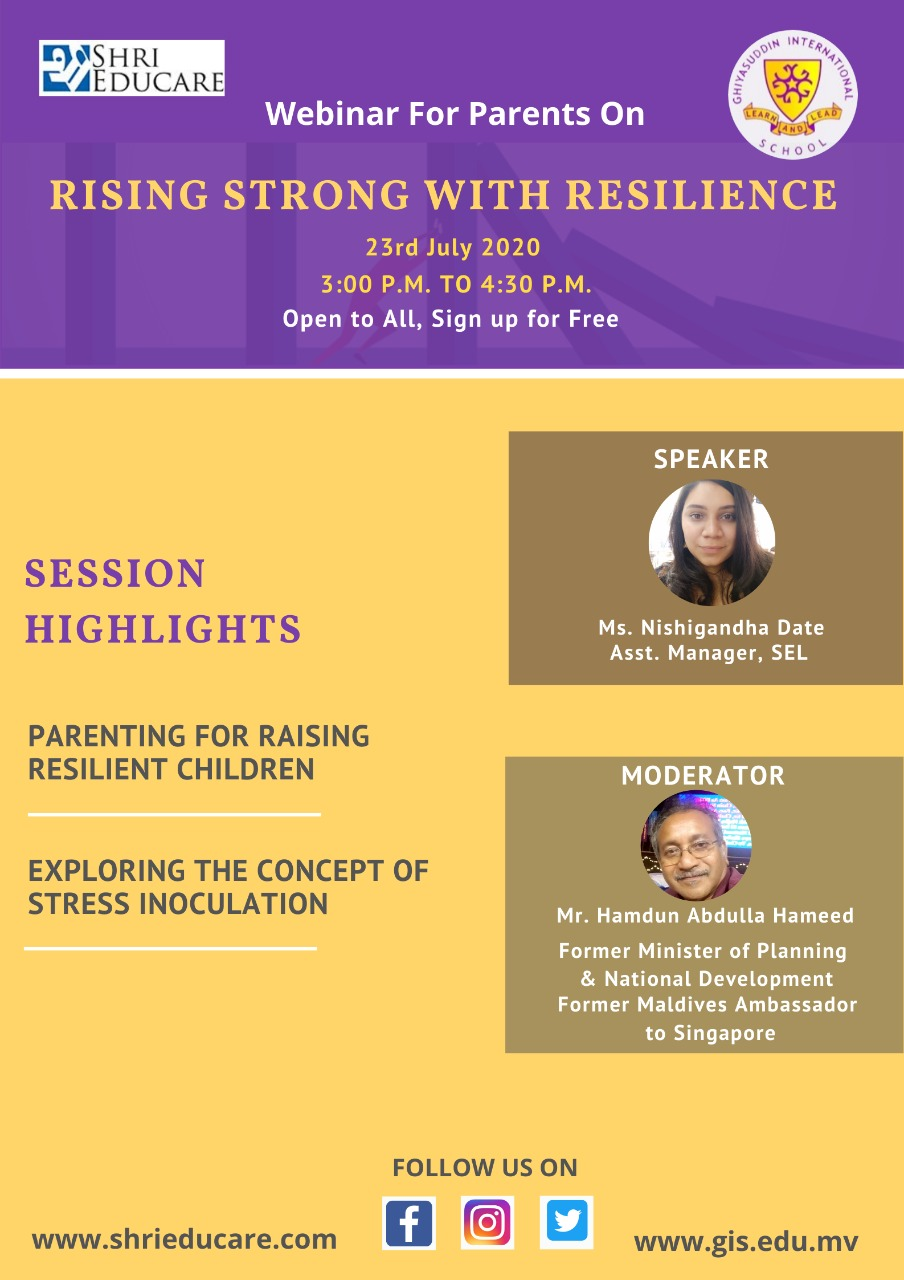 Online session on rising strong with resilience