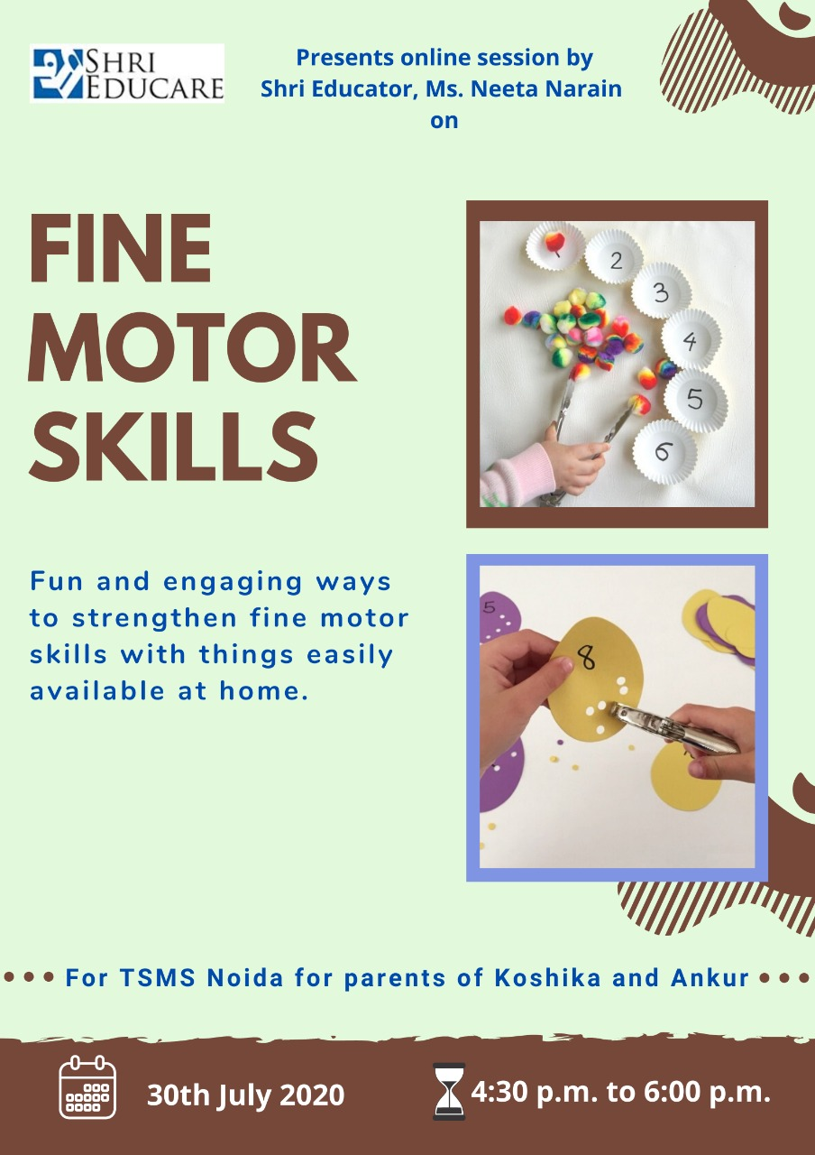 Online session on Fine Motor Skills
