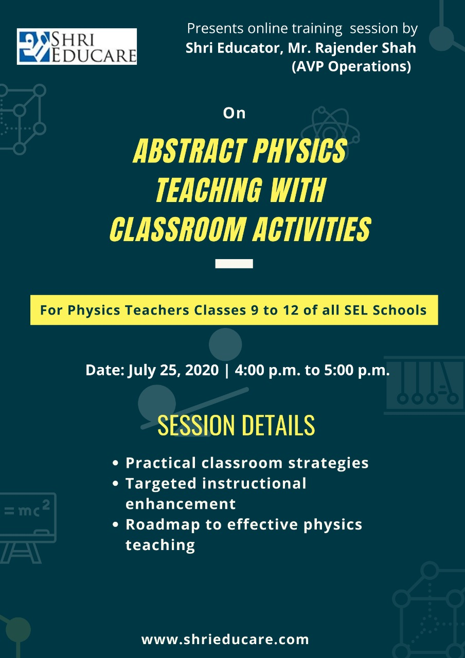 Online session on abstract physics teaching with classroom activities