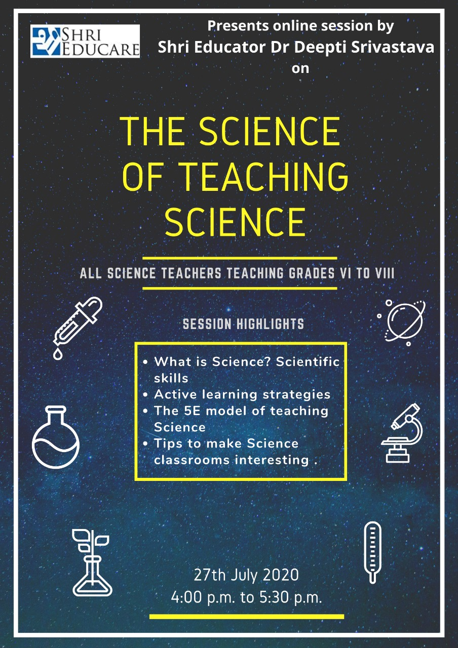 Online session on the science of teaching science