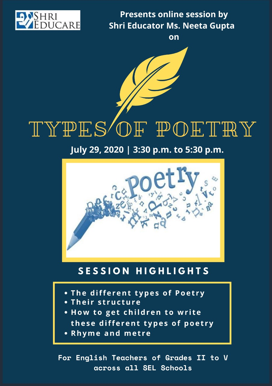 Online session on types of poetry