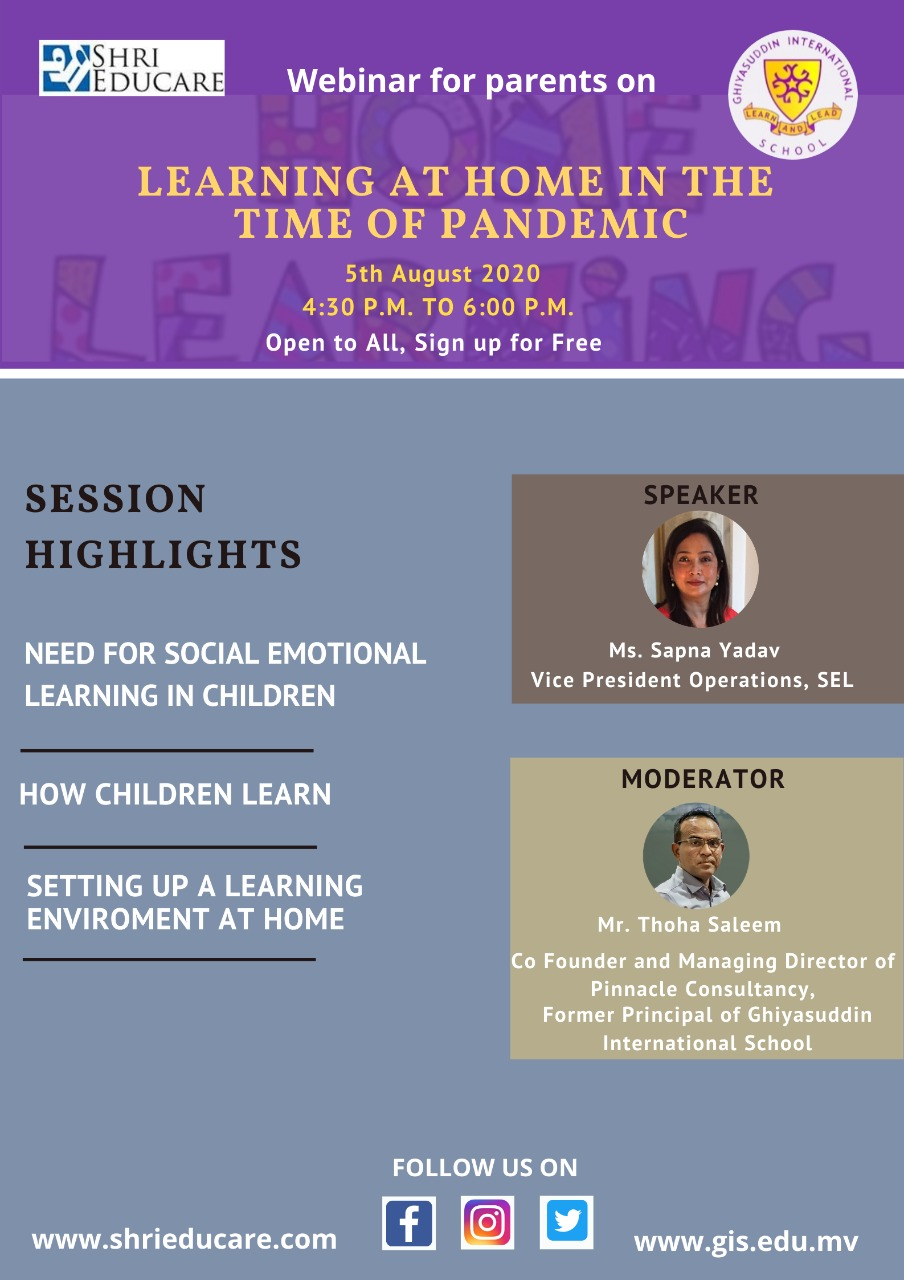 Online session on learning at home in the time of pandamic'