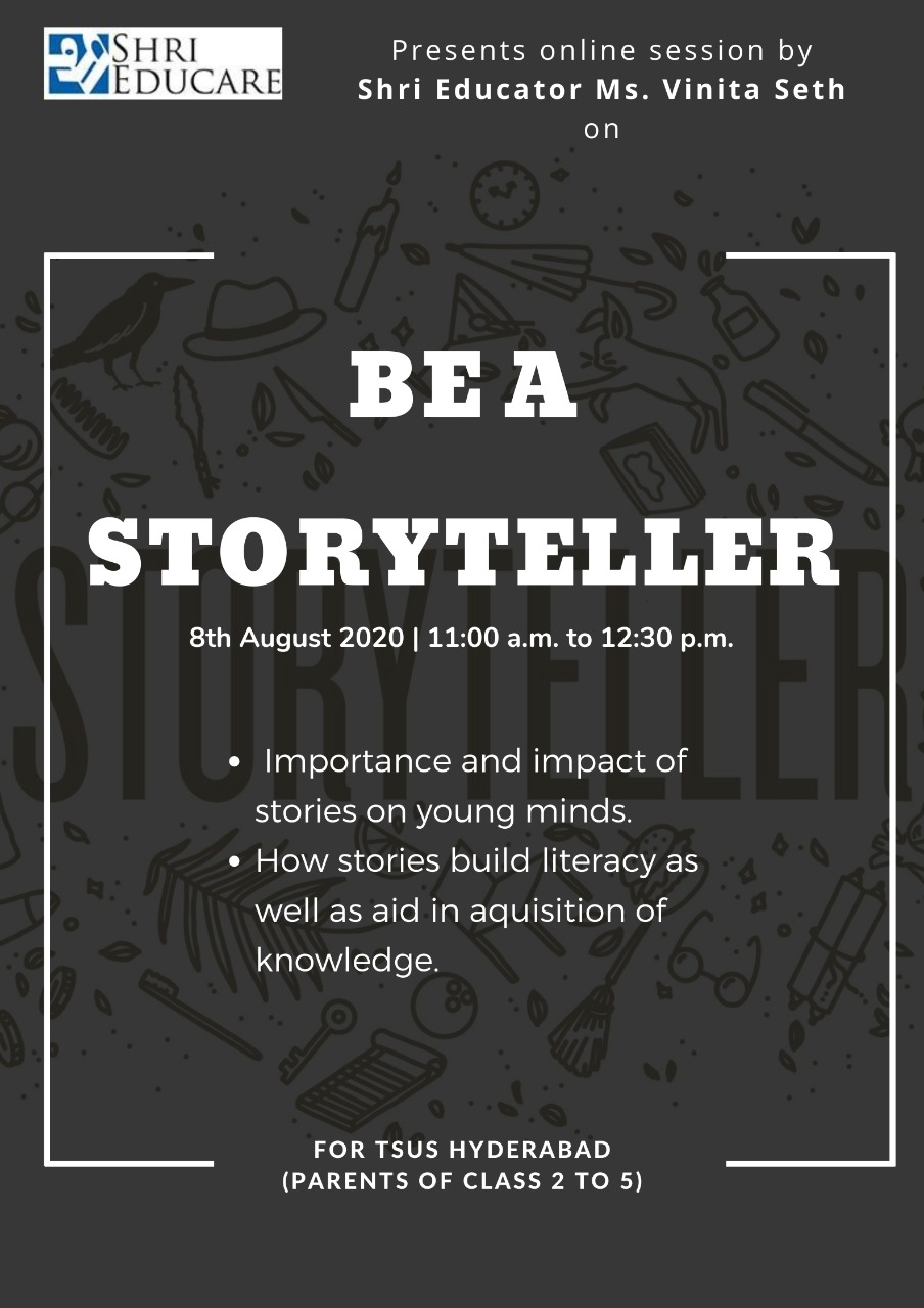 Online session on be a story teller