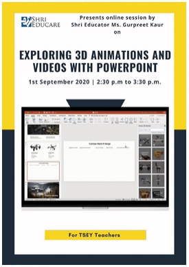 Online session on exploring 3D animations with powerpoint