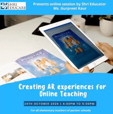 Online session on creating AR experiences for online teaching
