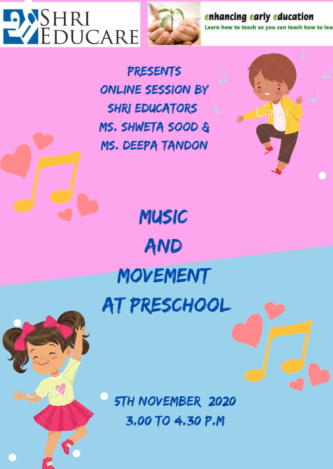 Online session on Music & Movement at Preschool